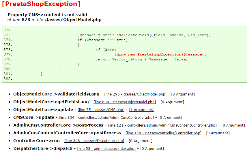 PrestaShopException-Property-CMS-content-is-not-valid-throw-new-PrestaShopException($message)